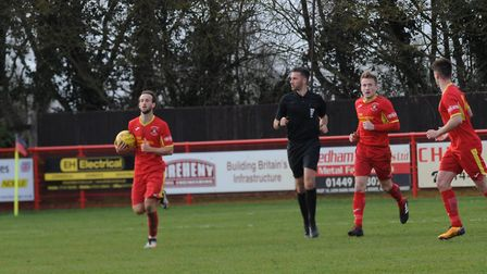 Needham get a goal back at Bloomfields, but it's too late Photo: BEN POOLEY
