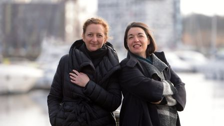 Iona Hodgson and Daisy Lees - organisers of the Art Eat event planned for the Ipswich Waterfront.