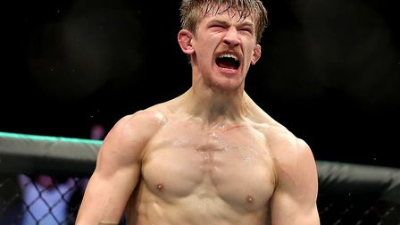 Suffolk's Arnold Allen fights Jordan Rinaldi at UFC London at the O2 Arena this Saturday. Picture: P