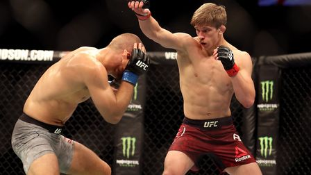 Arnold Allen, right, is 4-0 in the world-famous UFC. Picture: PA SPORT
