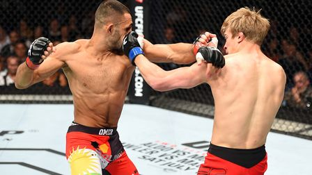 Arnold Allen, right, is among the very best featherweight fighters on the planet. Picture: PA SPORT