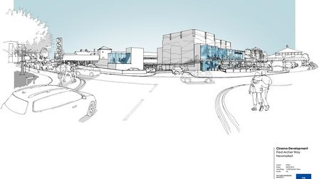 An artist illustration of the Newmarket cinema project. Picture: WEST SUFFOLK COUNCIL/HARRIS PARTNER