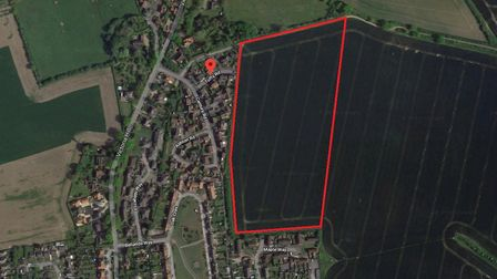 The site planned for 126 homes in Eye. Picture: GOOGLE MAPS