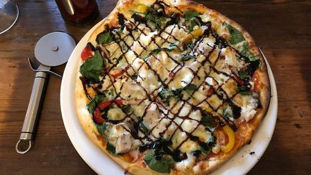 The Saints pizza with chicken at Suffolk Stonehouse PICTURE: Archant