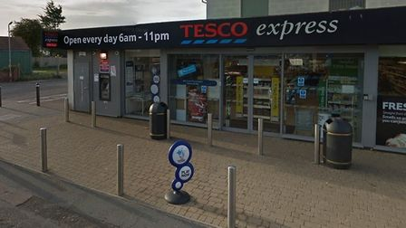Mr Sampson entered the Tesco Express store wielding a samurai sword on January 5. Pictures: GOOGLE M