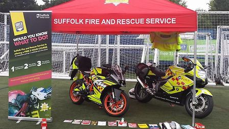 The Biker Down courses will be held at various locations in Suffolk Picture: SUFFOLK FIRE AND RESCUE