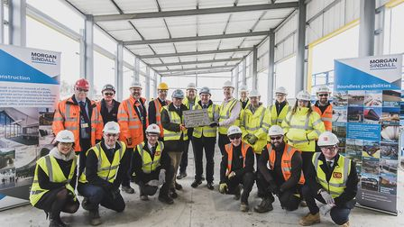 A ceremony marked a key milestone in the construction of the West Suffolk Operational Hub (WSOH) Pic