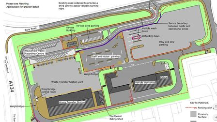 The proposed layout of the new West Suffolk Operational Hub. Picture: WEST SUFFOLK COUNCILS