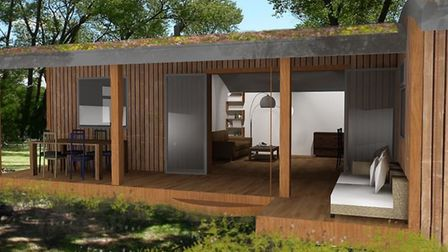 What one of the luxury holiday lodges at the Center Parcs style park could look like Picture: HONACE
