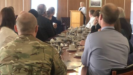 Business leaders from across Suffolk and beyond gathered at RAF Wattisham for an Institute of Direct