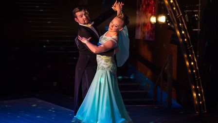 Justin and Jodie (David Birch and Vicki Lee Taylor) prepare for the grand final in Kiss Me Quickste