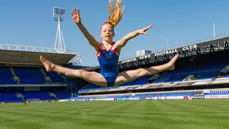Grace Wardley is one of the best young gymnasts at Pipers Vale in Ipswich. Picture: PAVEL KRICKA