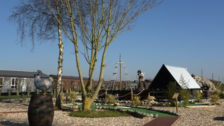 The holiday homes are part of a wider complex which includes attractions such as crazy golf Picture: