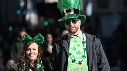 St Patrick's Day is being marked across the world Picture: BRIAN LAWLESS/PA WIRE