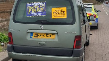 The Peugeot Passenger was pulled over by police officers over concerns about speeding. Picture: NSRA