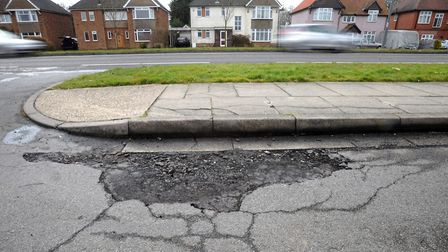 """Potholes in Suffolk have been described as a """"poor advert for our county"""" by Suffolk County Council'"""