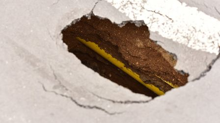 A pothole blitz was carried out last winter when harsh weather opened up more cracks in the road sur