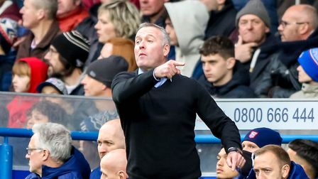 Town manager Paul Lambert was restrained in his criticism of referee Keith Stroud. Picture: STEVE W