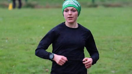Daisy Glover on her way to a first-placed finish. Picture: GREAT CORNARD PARKRUN FACEBOOK PAGE