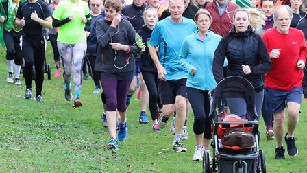 Runners turned out in force at the 268th staging of the Great Cornard parkrun. Picture: GREAT CORNAR