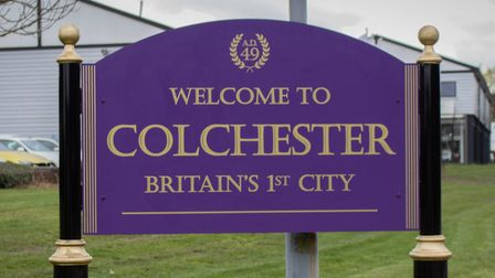 The new signs welcoming people to Colchester, Britain's capital in Roman times Picture: COLCHESTER