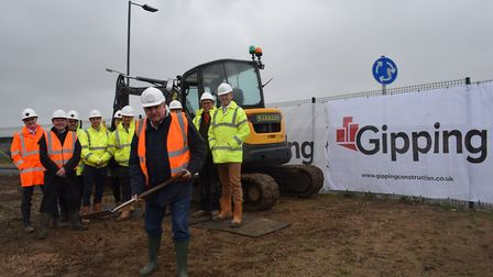 Builders breaking new ground on the project in Jaywick Sands Picture: WILL LODGE/TENDRING DISTRICT C