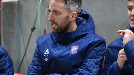 Cole Skuse on the bench at Bristol City. Photo: Pagepix