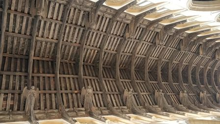 The church roof at St Mary's in Bury St Edmunds has been upgraded Picture: SIMON HARVEY