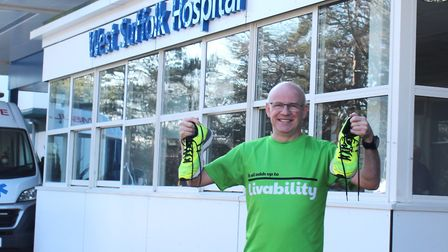 David Swales, technical accountant at West Suffolk NHS Foundation Trust, is training for the London