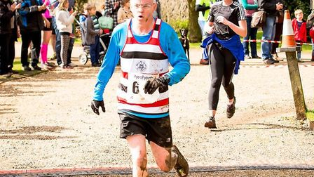 David running the Ickworth 10k. Shortly after he had a stroke Picture: SUPPLIED BY FAMILY