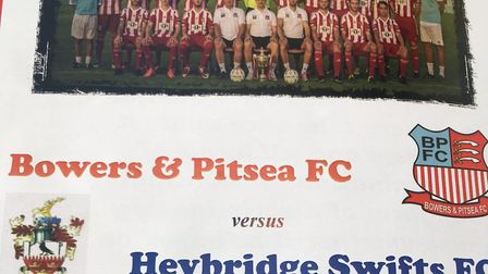 The match-day programme for Heybridge Swifts' visit, on January 31, 2017