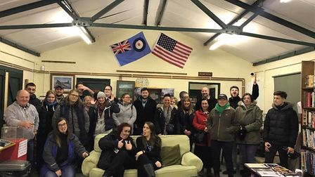 Ghost Hunt UK took a group on a visit to Rougham airfield Picture: GHOST HUNT UK