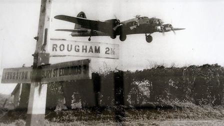 An old picture of Rougham airfield provided by the Rougham Control Tower Aviation Museum.