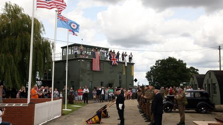 The Echoes of the Past 1940s recreation event at Rougham Control Tower. Picture: PHIL MORLEY