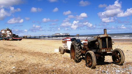Tractor towing a boat Picture: PAMELA BIDWELL