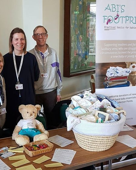 Gill Soper, Esther and Austin Allard of Abi's Footprints, pictured at the Sudbury on Show event. Pic