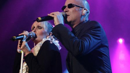 Two thirds of The Human League performing on the Isle of Wight in 2009 Picture: Yui Mok/PA