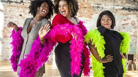 Carly Mercedes Dyer, Renée Lamb & Landi Oshinowo in rehearsals for Ain't Misbehavin' at Colchester