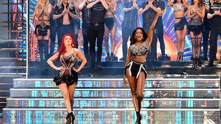 Dianne Buswell (left) and Oti Mabuse at the launch of Strictly Come Dancing 2018 held at The Broadca