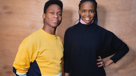 Tyrone Huntley and Oti Mabuse at rehearsals for the Fats Waller musical Ain't Misbehavin' at Colches