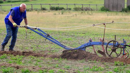 Bruce Smith in 2015, ploughing the way it used to be done Picture: SIMON PARKER