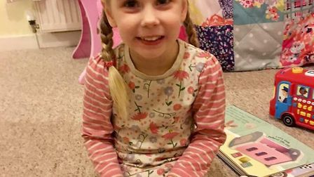 Indie-Rose Clarry, four, who has Dravet syndrome Picture: SUPPLIED BY FAMILY