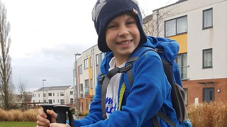 Alastair will be one of the youngest people ever to climb the Yorkshire Three Peaks Picture: RACHEL
