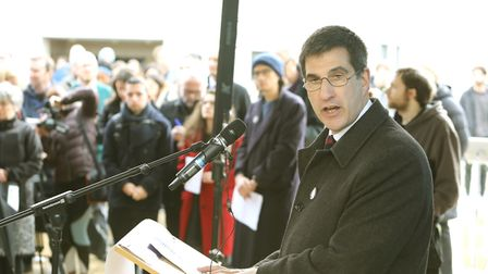 University of Essex vice-chancellor Professor Anthony Forster made a speech at the event Picture: ST