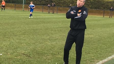 Mildenhall Town manager, Ricky Cornish, watched his side lose to Bowers at the weekend.