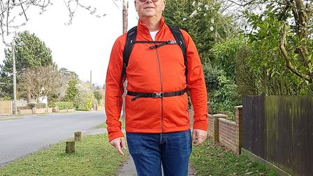 David will be walking to raise money for cancer charities. Picture: RACHEL EDGE