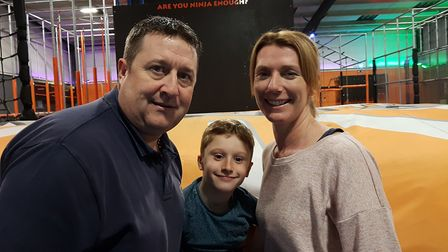 Parents Martin and Claire Ford, with son Sam, will be climbing over 4,000m of mountain in Morocco fo