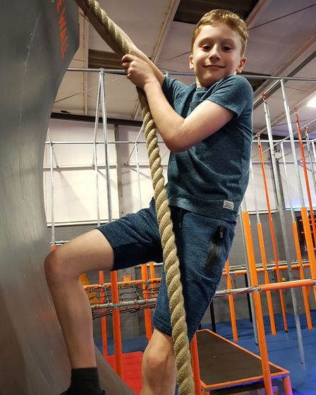 As well as yoga and swimming, Sam has been climbing walls and ropes to make sure he's fit to climb a