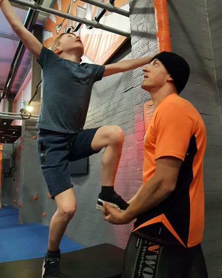Shaun Doyland, owner of the gym, ninja course and attached martial arts centre, has helped Sam train