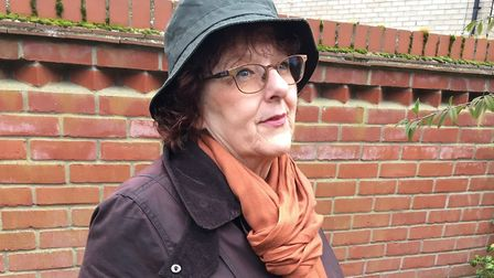 Lynne can always resort to her Vera Hat if the weather gets cold again. Picture; LJM